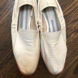 Zara Cream Leather Loafer Size 37